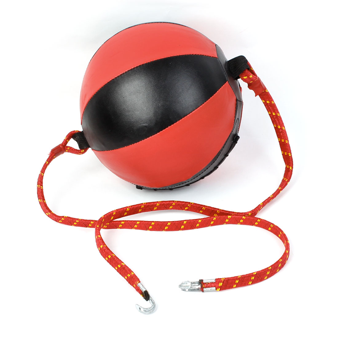 Kickboxing Boxer Train Two Ends Black Red Faux Leather Boxing Speed Ball