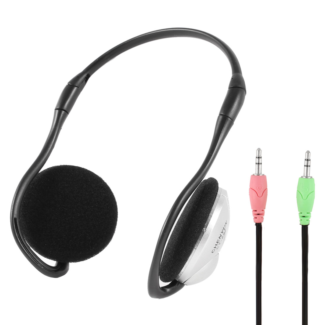 3.5mm Connector Stereo Neckband Multimedia Headphone Headset w Microphone for Laptop