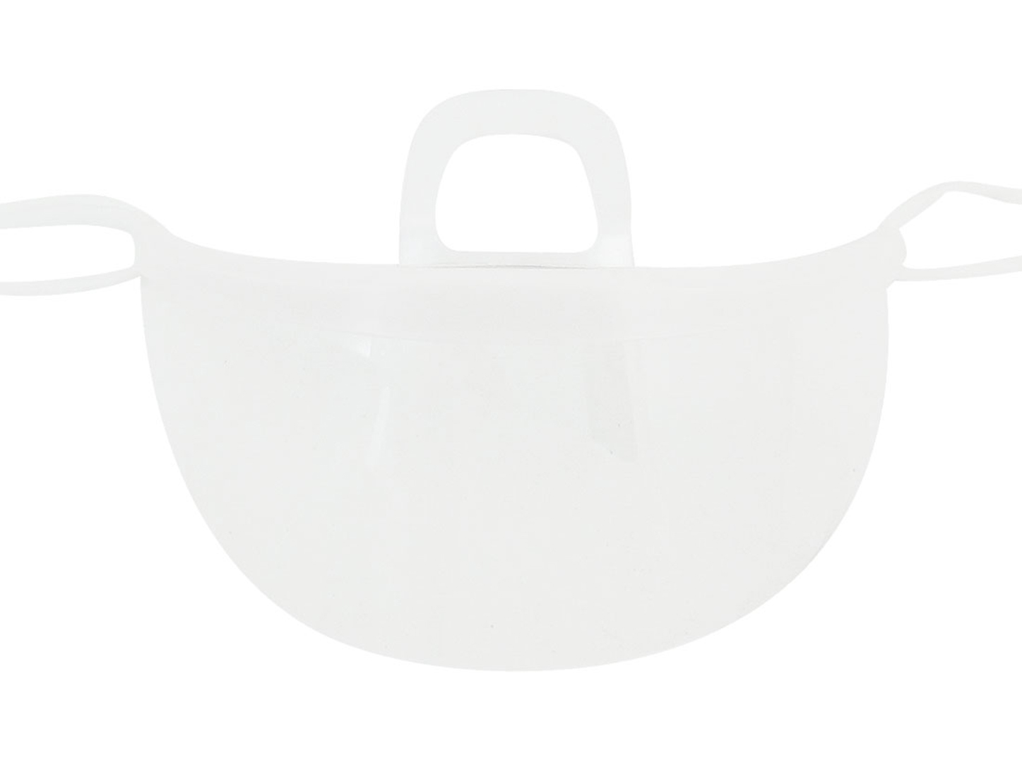 White Clear Adjustable Strap Anti-fog Plastic Hygienic Mask