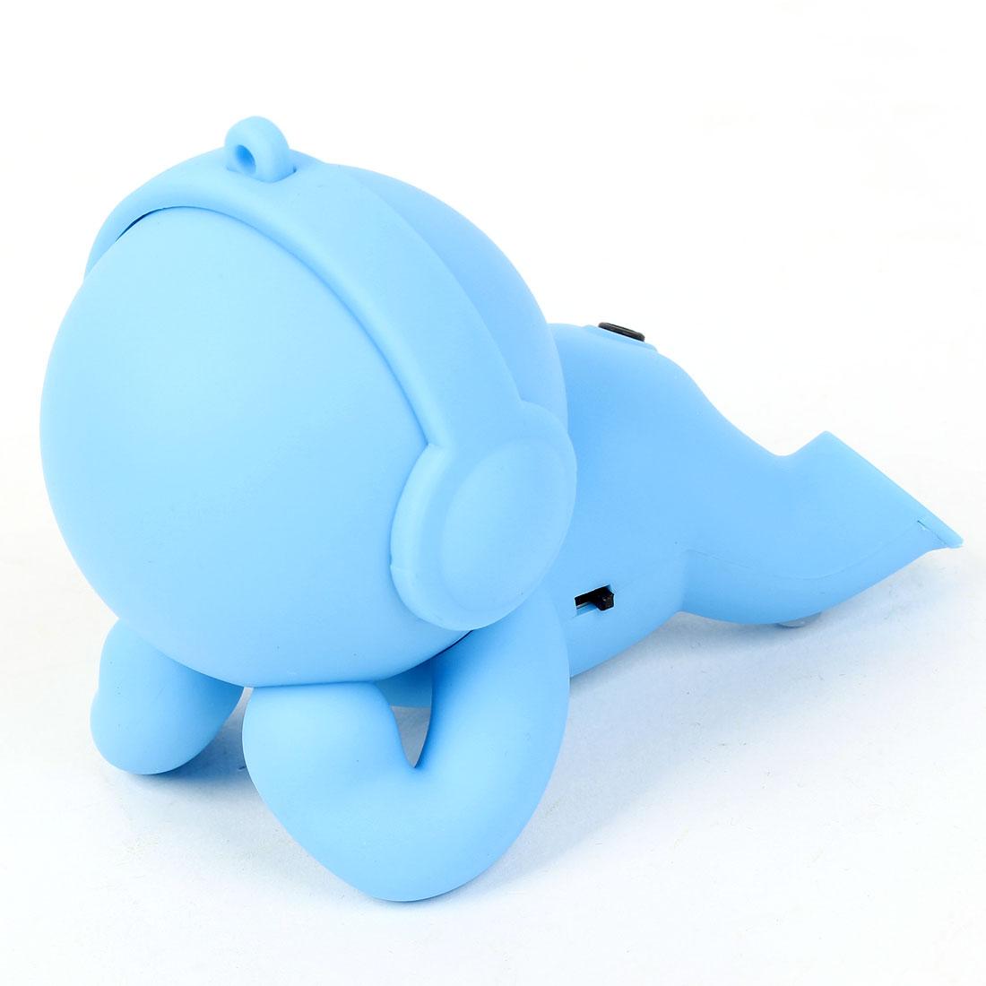 PC Computer Cartoon Baby Shaped MP3 Laptop Mini USB 3.5mm Jack Speaker Blue