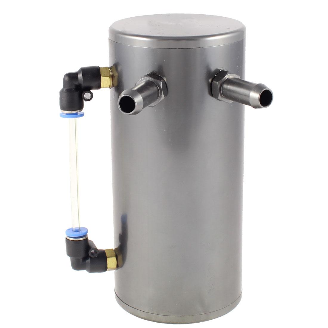 Universal Mounting Bracket Gray Alloy Body Oil Catch Can Tank Oil Reservoir