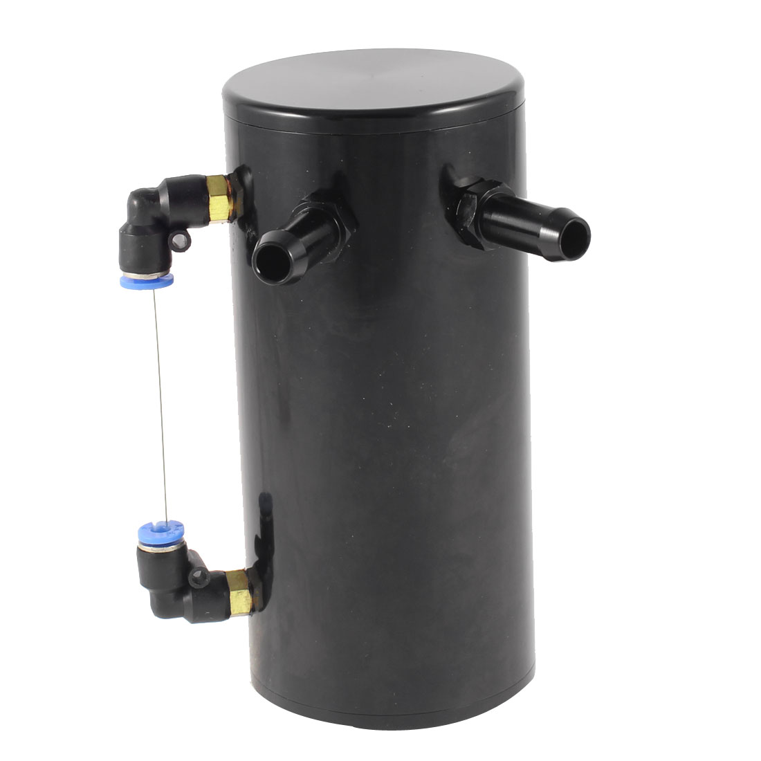 Black Alloy Car Auto Engine Cylinder Fluid Gas Reservoir Oiler Oil Catch Tank