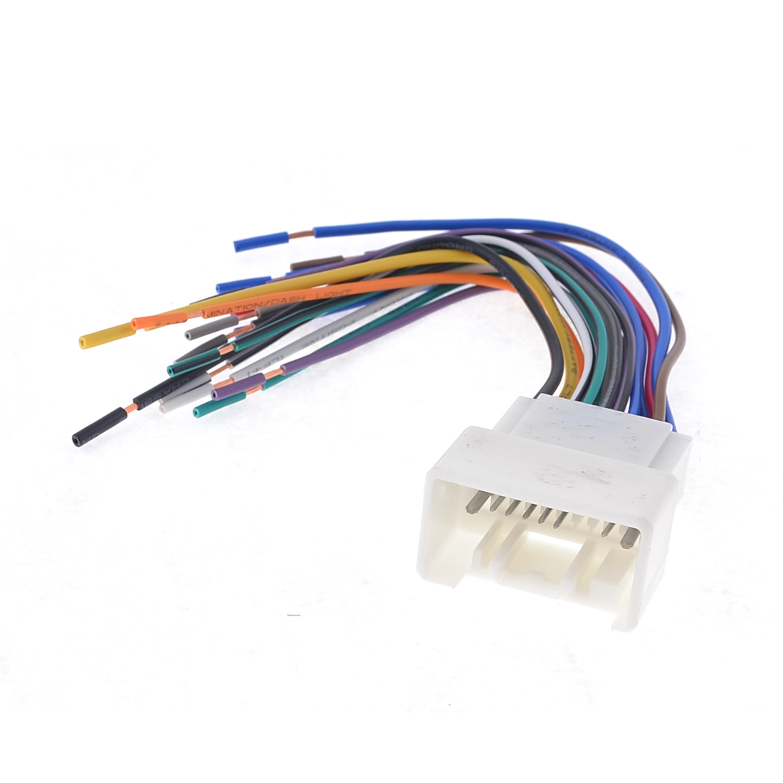 Vehicle Car CD Stereo Male Connector Wiring Harness 18cm Length for Outlander