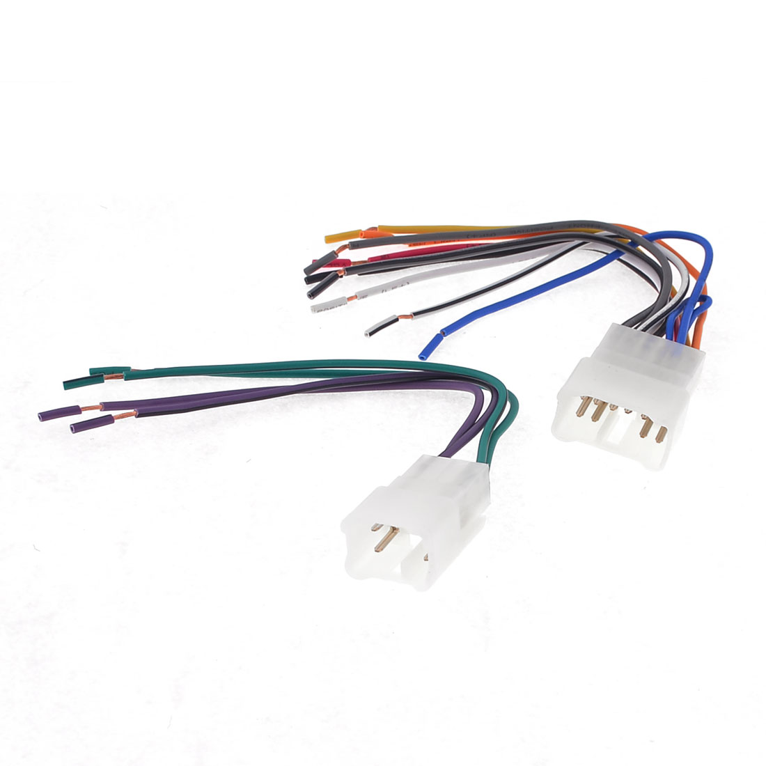 Auto Car Aftermarket Male Connector Radio Wire Harness 2 Pcs for Toyota
