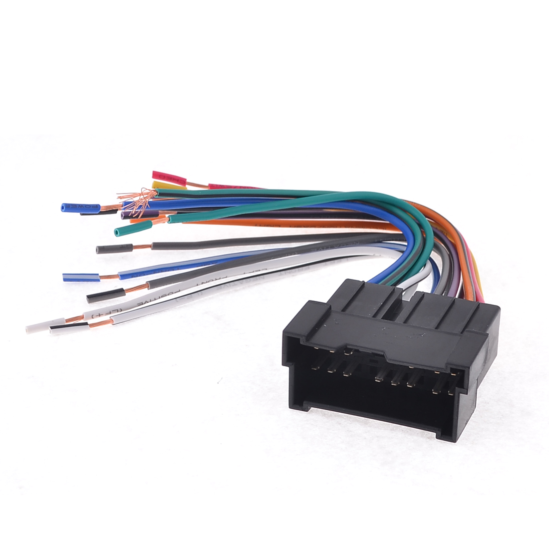 Auto Car Aftermarket Black Shell Radio Wire Harness Male for Elantra