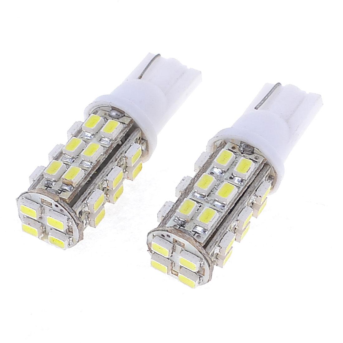 Pair Car T10 194 168 White 1206 SMD 28-LED Tail Turning Light Bulb Lamp