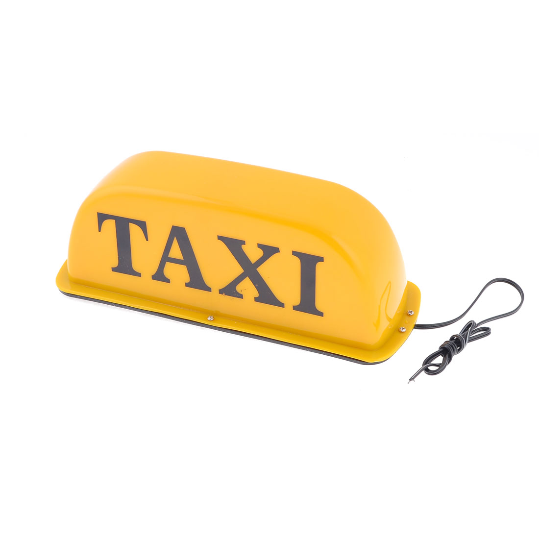 Orange Plastic Shell Magnetic Base Yellow Lights Taxi Cab Sign Lamp DC 12V