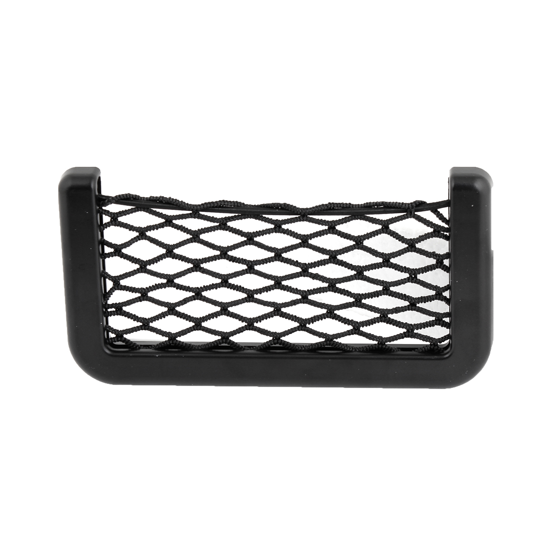 Car Black Plastic Elastic Nylon Net Design Phone Card String Bag Holder