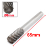 8mm x 19mm Double Cut Cylindrical Tungsten Carbide Rotary File Bit