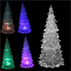 Clear Plastic Christmas Tree Design Colorful Changing LED Lamp Night Light 6.7""