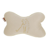 Back Elastic Strap Sponge Padded Seat Neck Pillows Cusion Beige for Car Auto