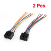 Car Vehicle Stereo Female Plug Wiring Harness 2 Pcs for Captiva