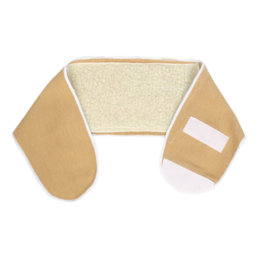 Stadium Gym Hook Loop Closure Protective Stomach Support Guard Beige for Unisex