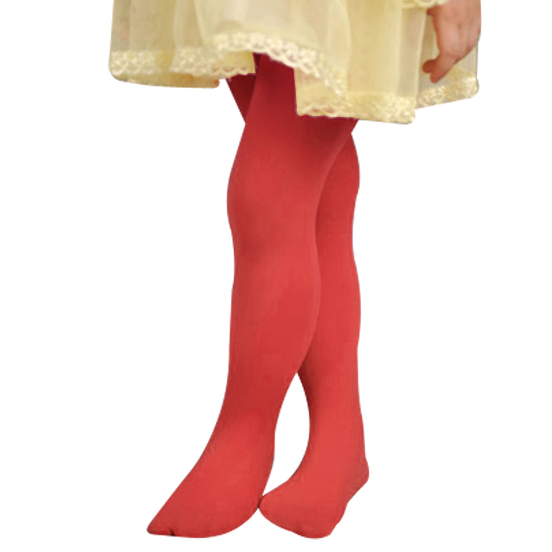 11-15T Girls Elastic Footed Pantyhose Hosiery Tights Collant Watermelon Red XL