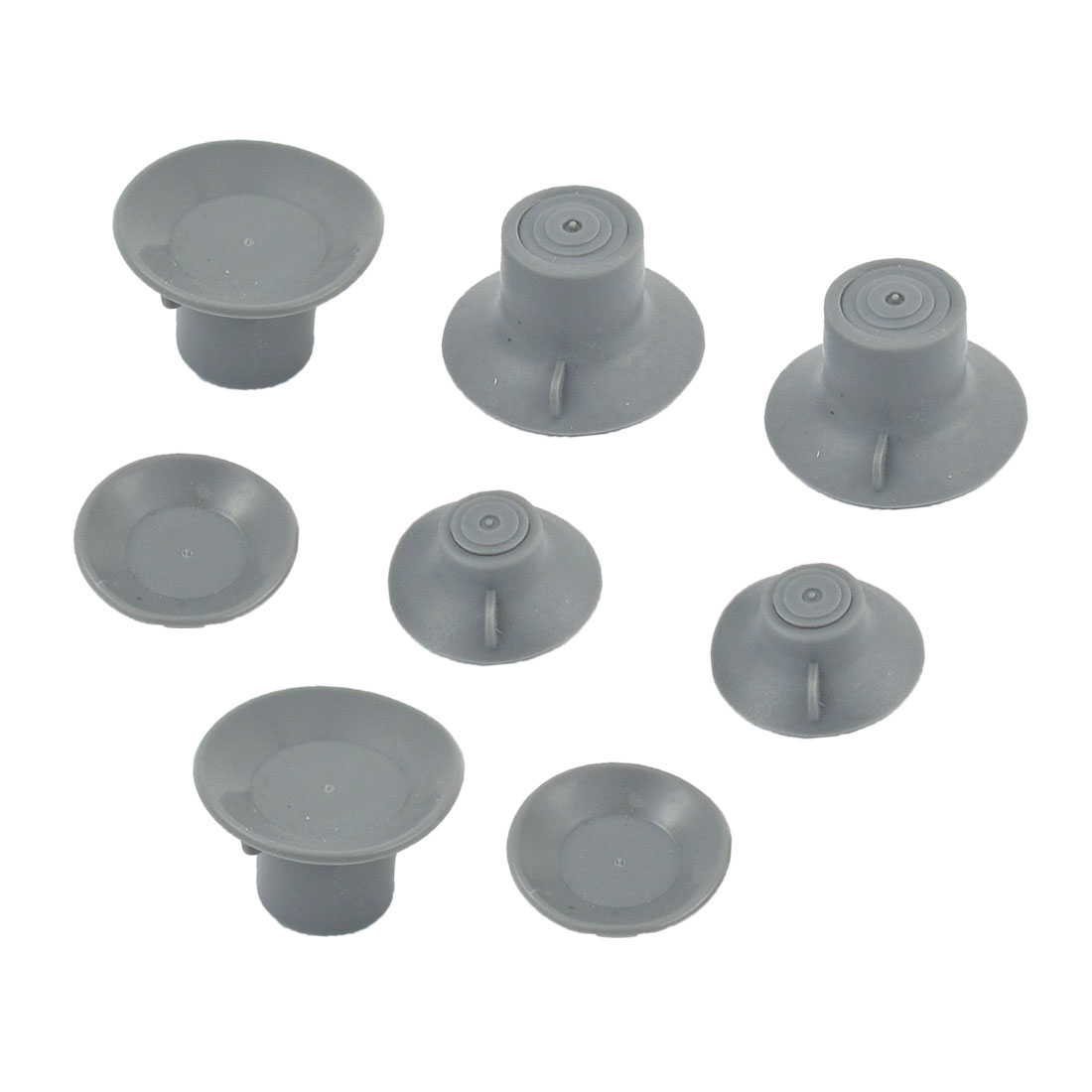 8 Pcs Gray Soft Silicone Cool Feet Suction Cup for Laptops