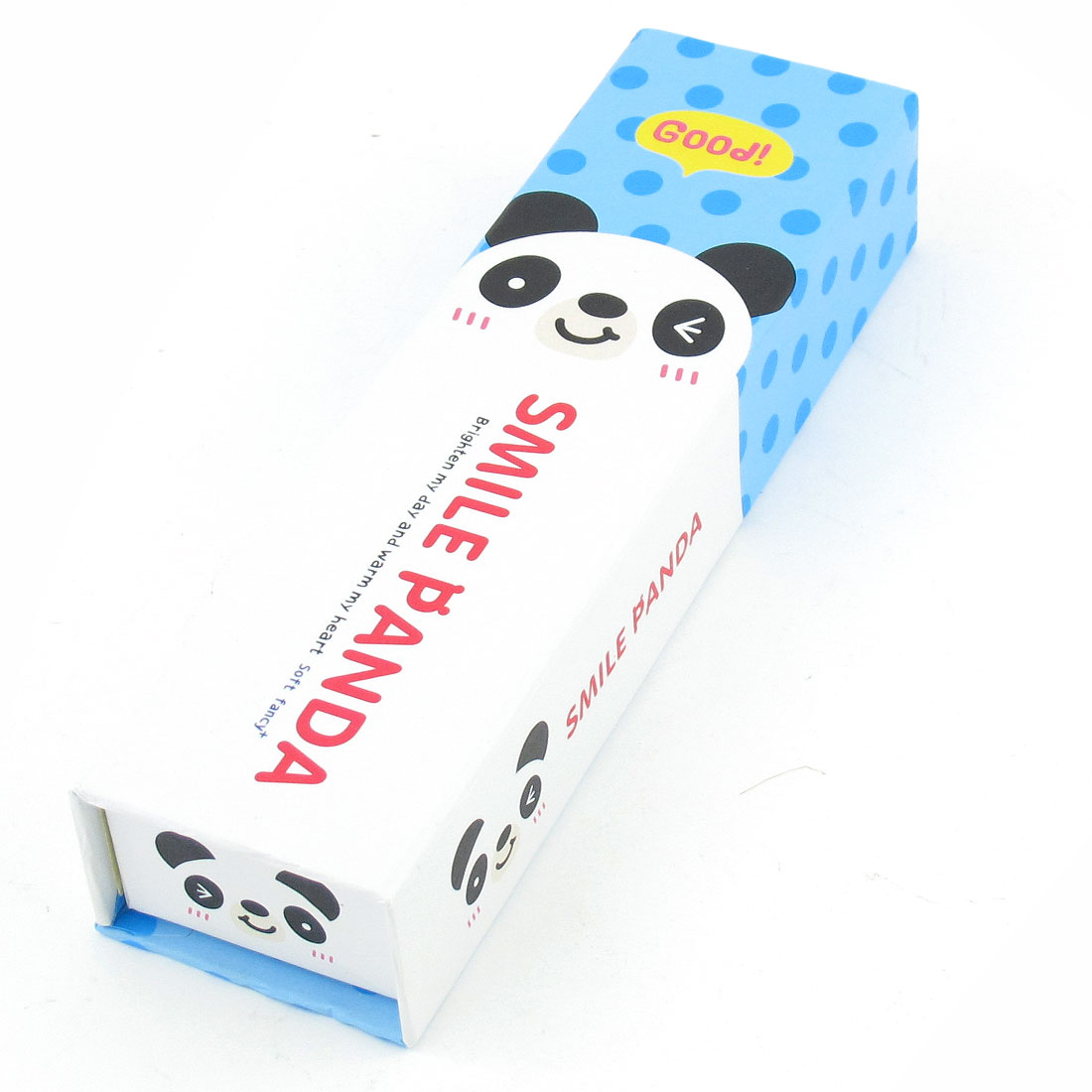 Cartoon Pattern Blue Magnetic Closure Rectangle Pencil Sharpener Box