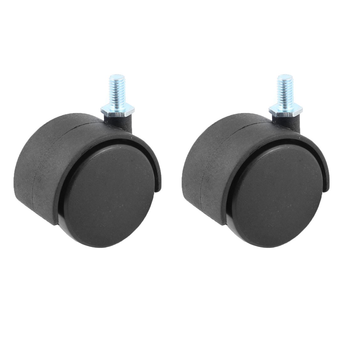 "Office Computer Chair Black Plastic 2"" Caster Roller Wheel 2pcs"