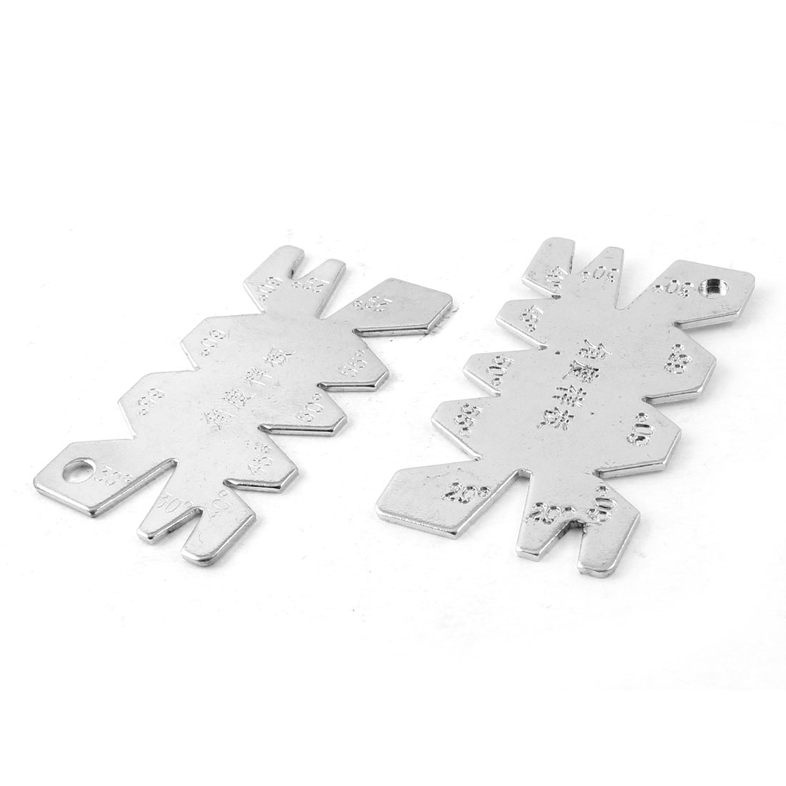 2pcs Screw Cut Angle Measuring Thread Cutting Gauge Gage