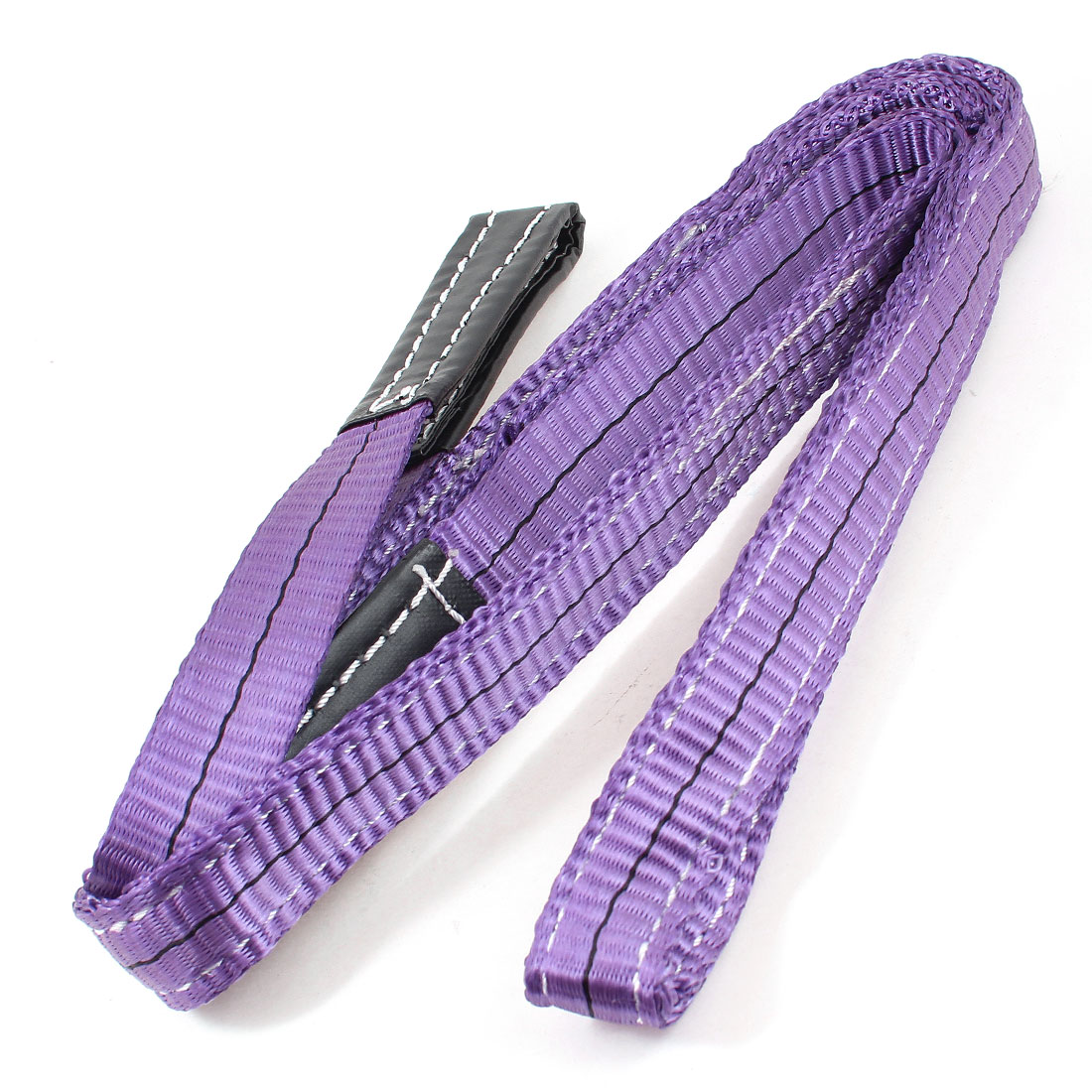 2M 25mm Width Eye to Eye Nylon Web Lifting Strap Tow Strap Purple