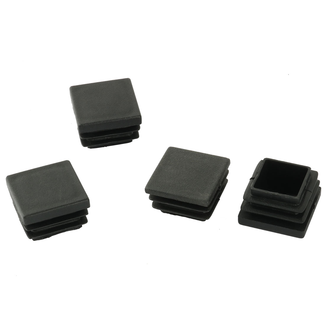 4 Pcs Plastic Square Blanking End Caps Tubing Tube Inserts 30mm x 30mm
