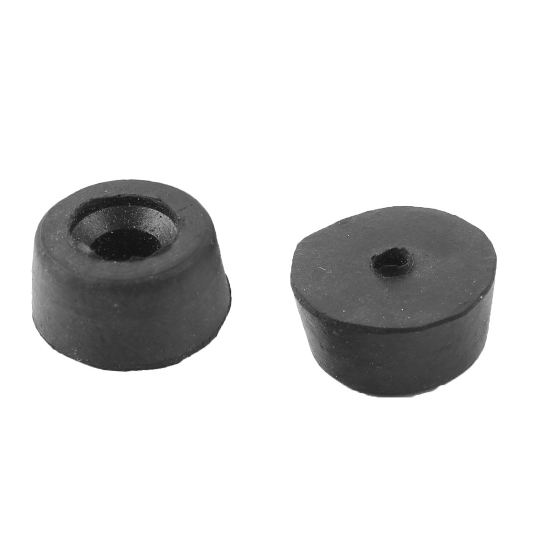 22x18x10mm Black Rubber Table Chair Feet Pads Tile Floor Protectors 2 Pcs
