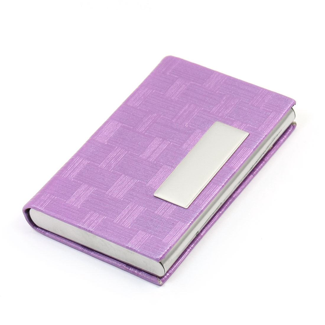 Magnetic Closure Credit Business Card Holder Purple
