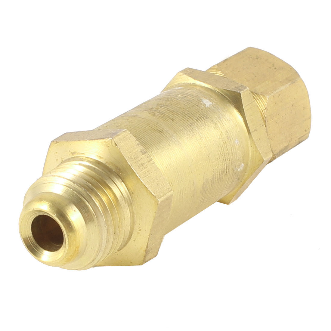 "1/4"" NPT Welding Regulator Mount Oxygen Flashback Arrestor Gold Tone"