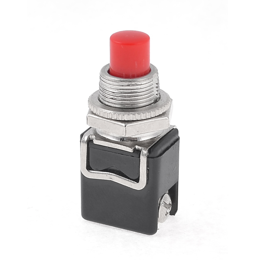 Vehicle Car 7mm Dia Red Round Cap Momentary Press Push Button Switch 12V