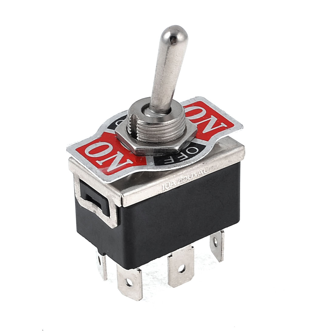 Vehicle Car Black 6 Pin 3 Position On/Off/On DPDT Toggle Switch