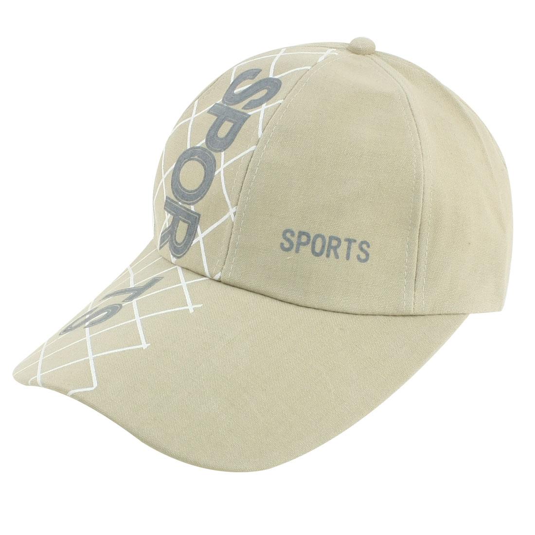 Man Women Adjustable Letter Pattern Casquette Style Sun Visor Hat Cap Khaki