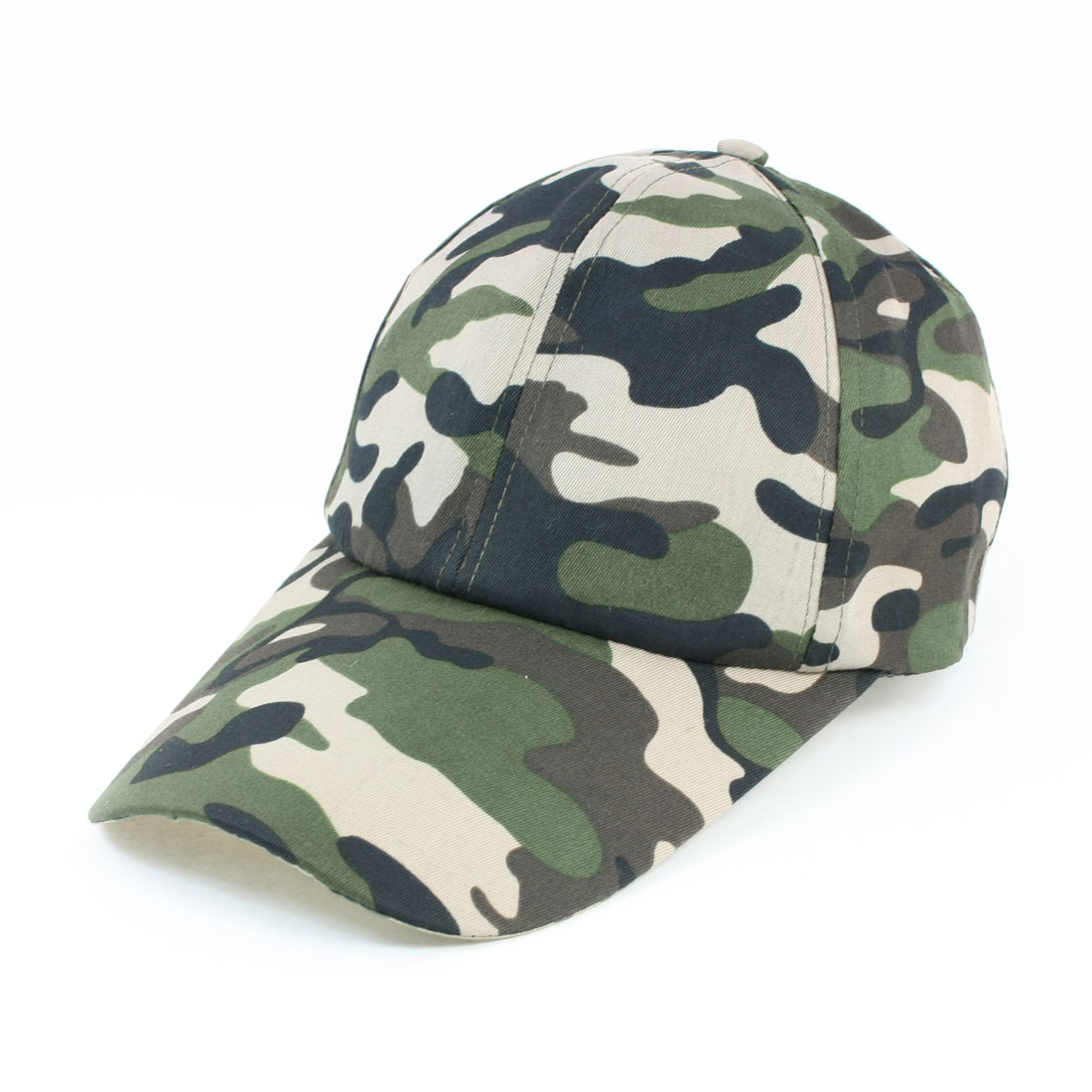 Unisex Sports Camouflage Printed Adjustable Slide Buckle Sun Visor Cap 3-Color