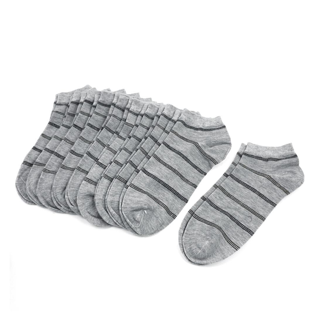10 Pairs Stripe Pattern Elastic Low Cut Ankle Socks 4 Color for Man Men