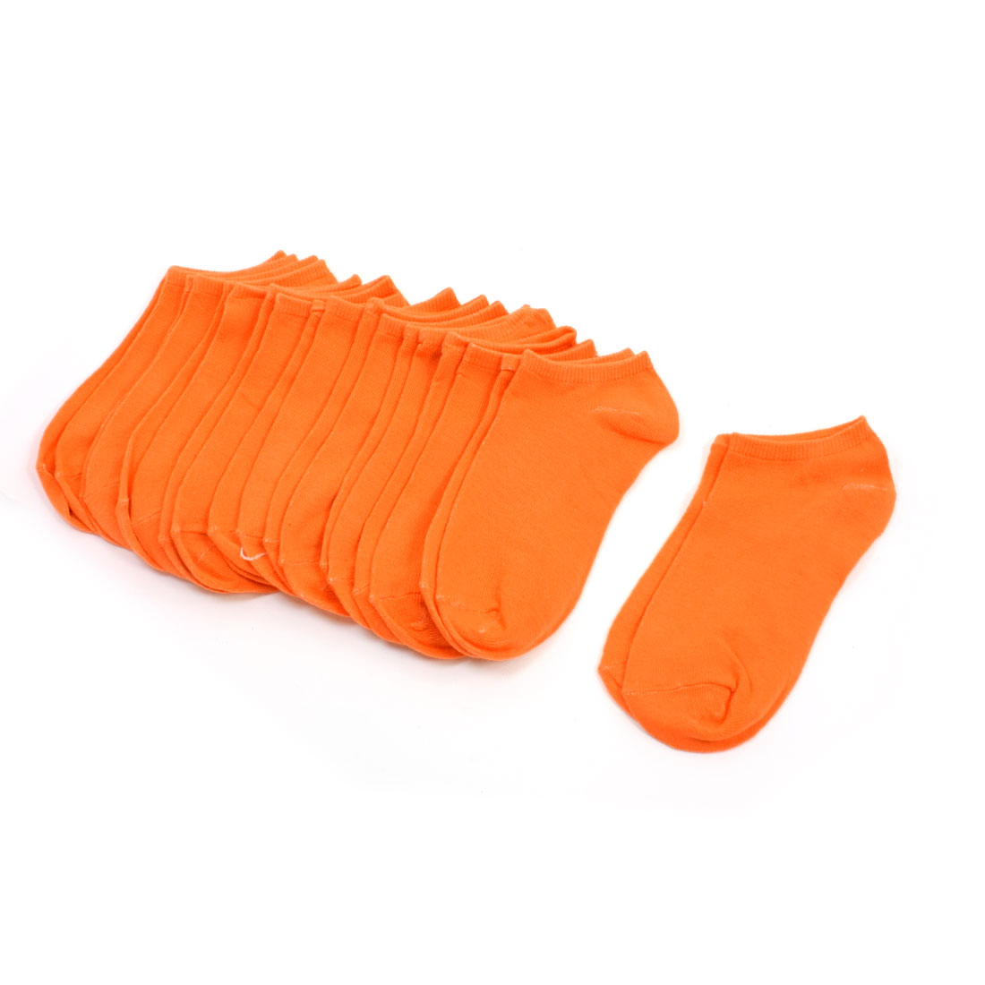 10 Pairs Girls Stretchy Footsie Gently Low Cut Hosiery Socks Orange