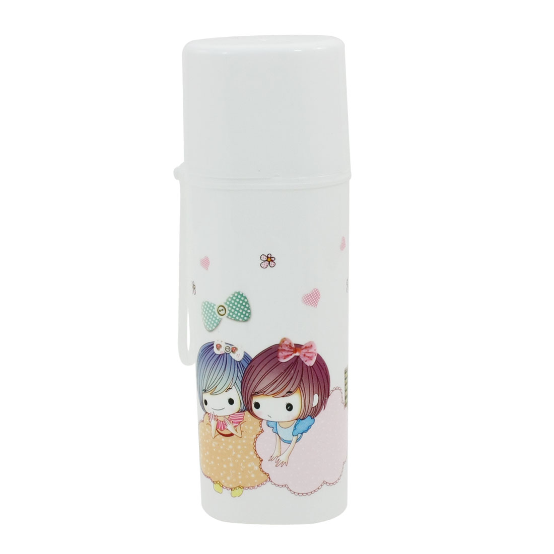 Camping Hiking Toothbrush Toothpaste Capped Holder Bottle Case White