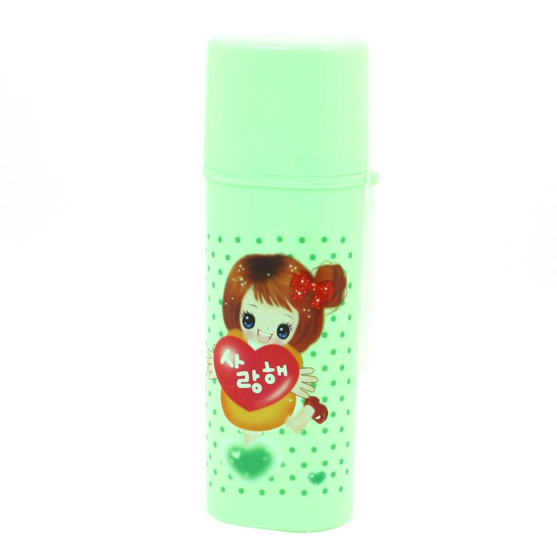 Travel Toothbrush Toothpaste Holder Case Plastic Capped Bottle Green