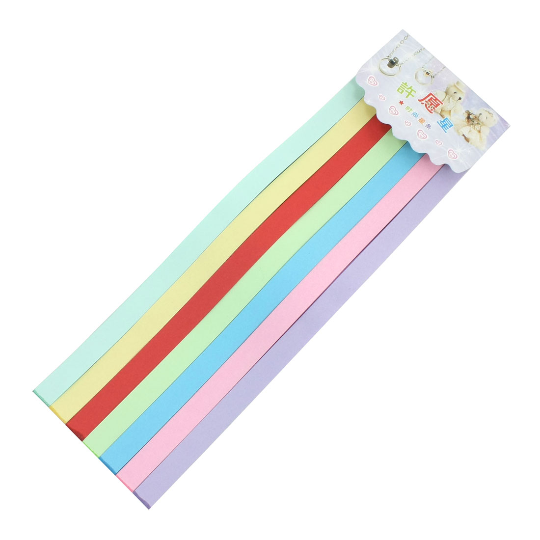 Lucky Wish Star DIY 7 Color Origami Paper Folding Strips 49Pcs