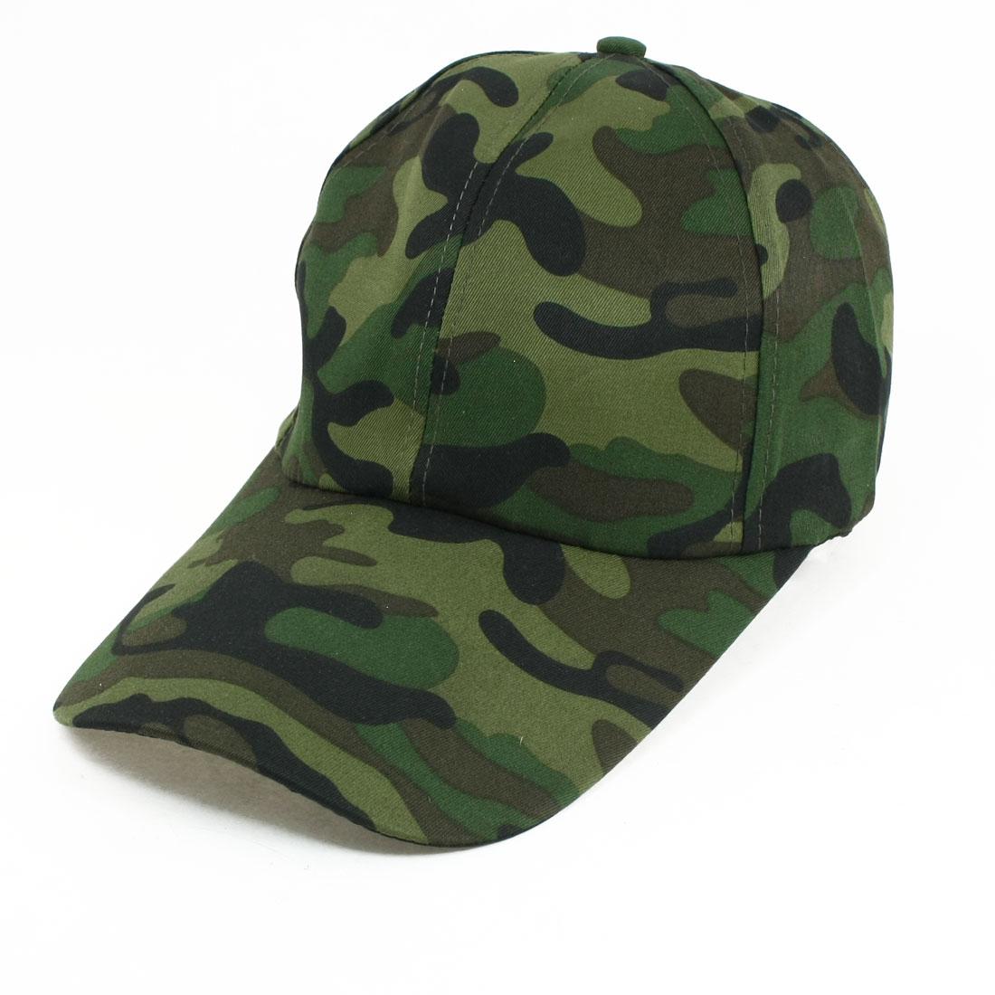 Man Women Adjuster Vest Buckle Multicolor Camouflage Pattern Sun Visor Cap Hat
