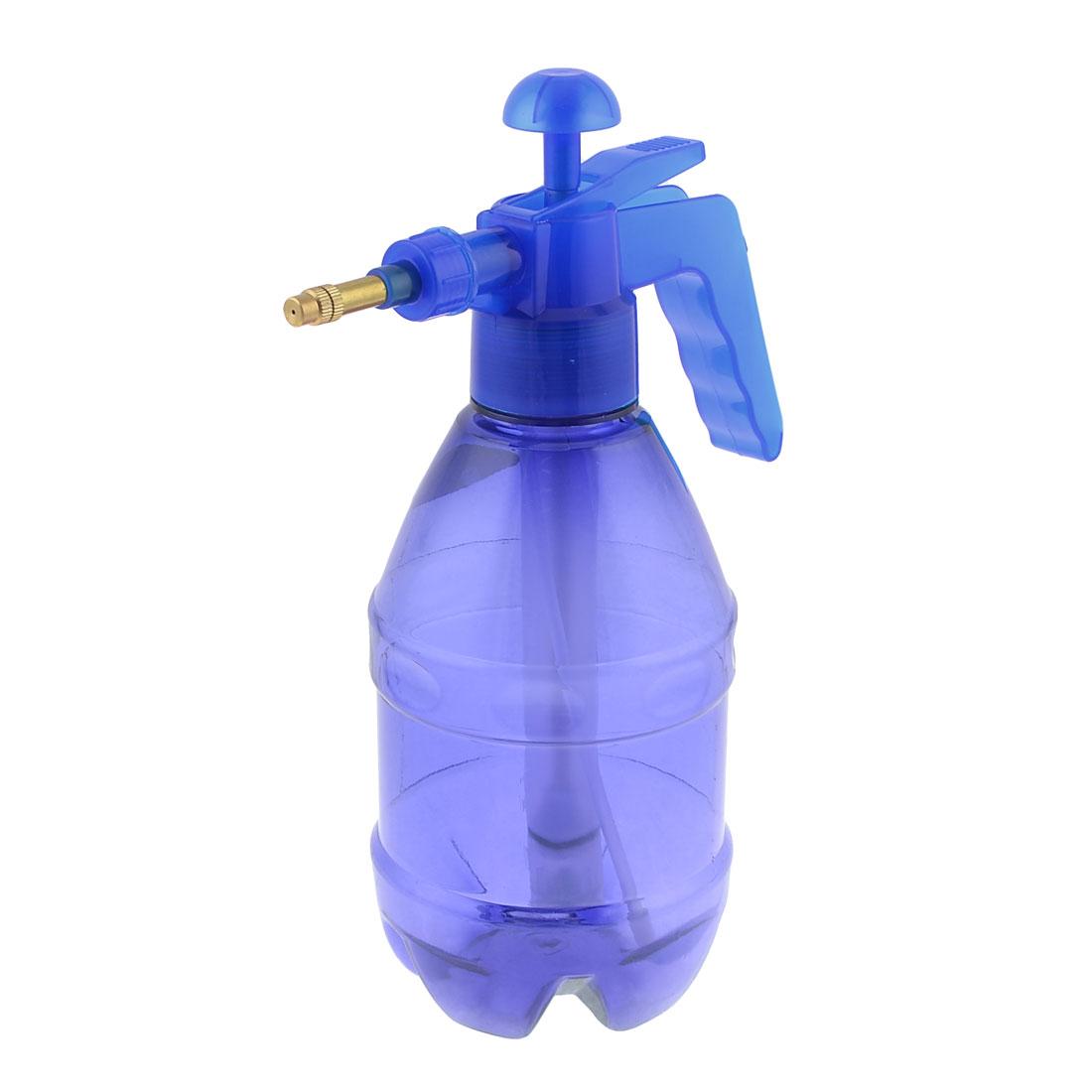 Transparent Plastic Flower Plant Sprayer Blue 1.5L Bottle