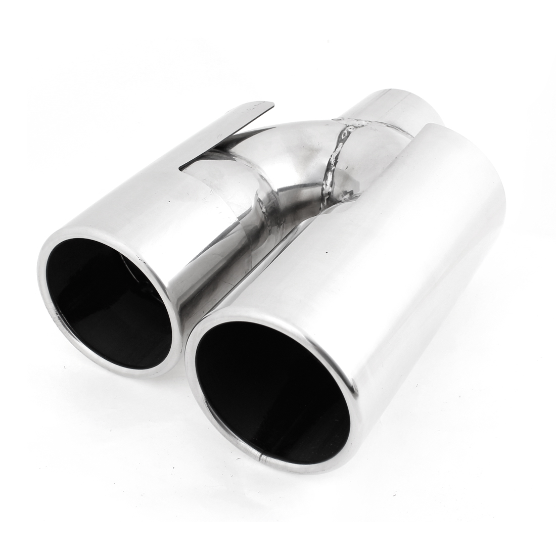 "2.4"" Inlet 2.2"" Outlet Dual Stainless Steel Exhaust Muffler Tip for BMWX1"