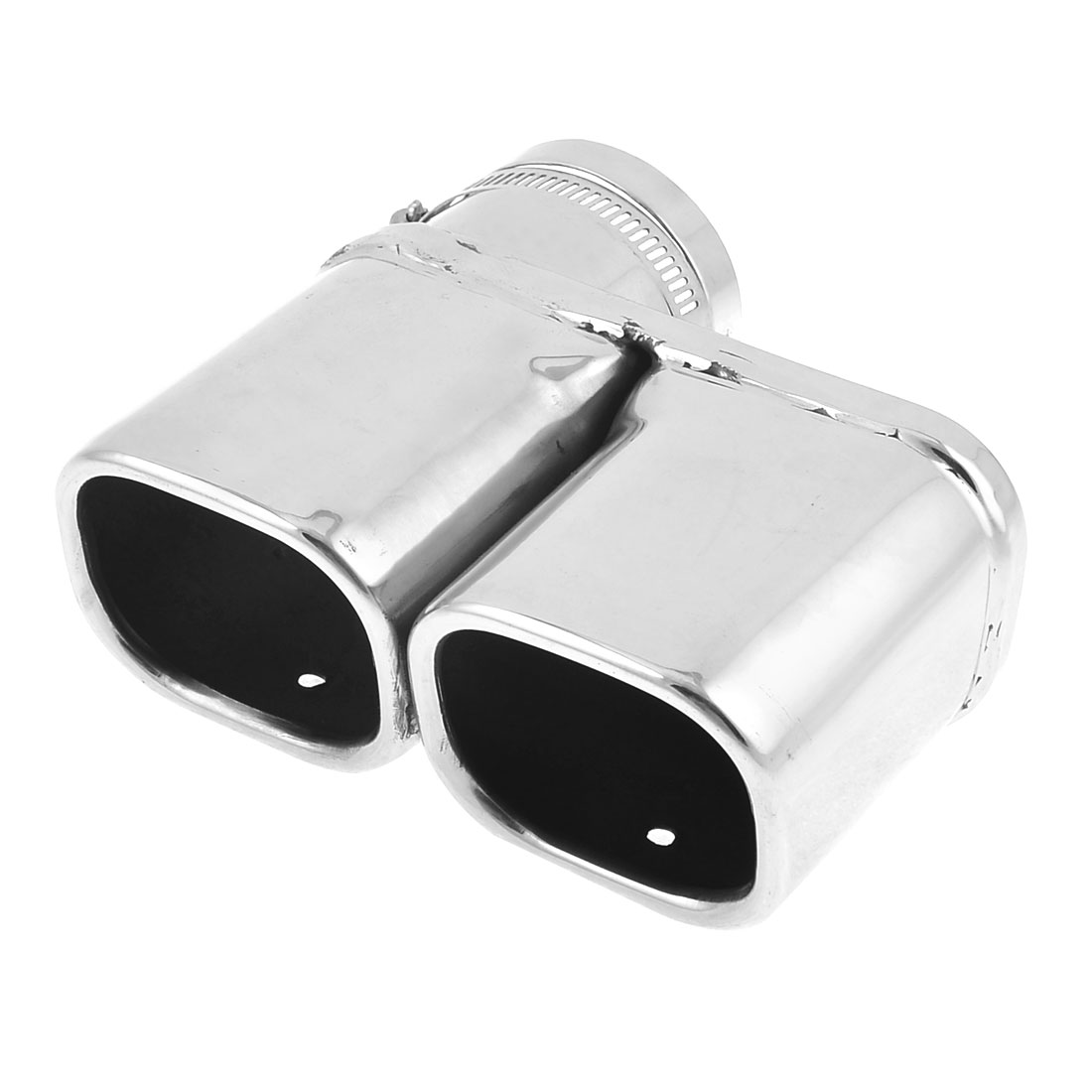 62mm Inlet Dia Two Outlet Stainless Steel Exhaust Muffler Tip for VW Lavida Octavia