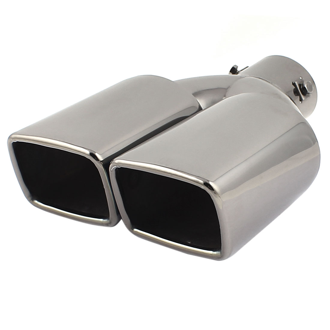 "2.4"" Inlet 8 x 6cm Outlet Dual Black Stainless Steel Exhaust Muffler Tip for Car"