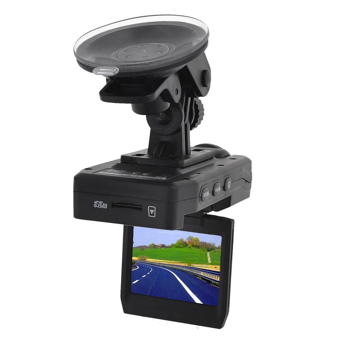 Black Plastic 2.0 LTPS LCD Screen Portable Auto Car Camera Road Video Recorder DVR