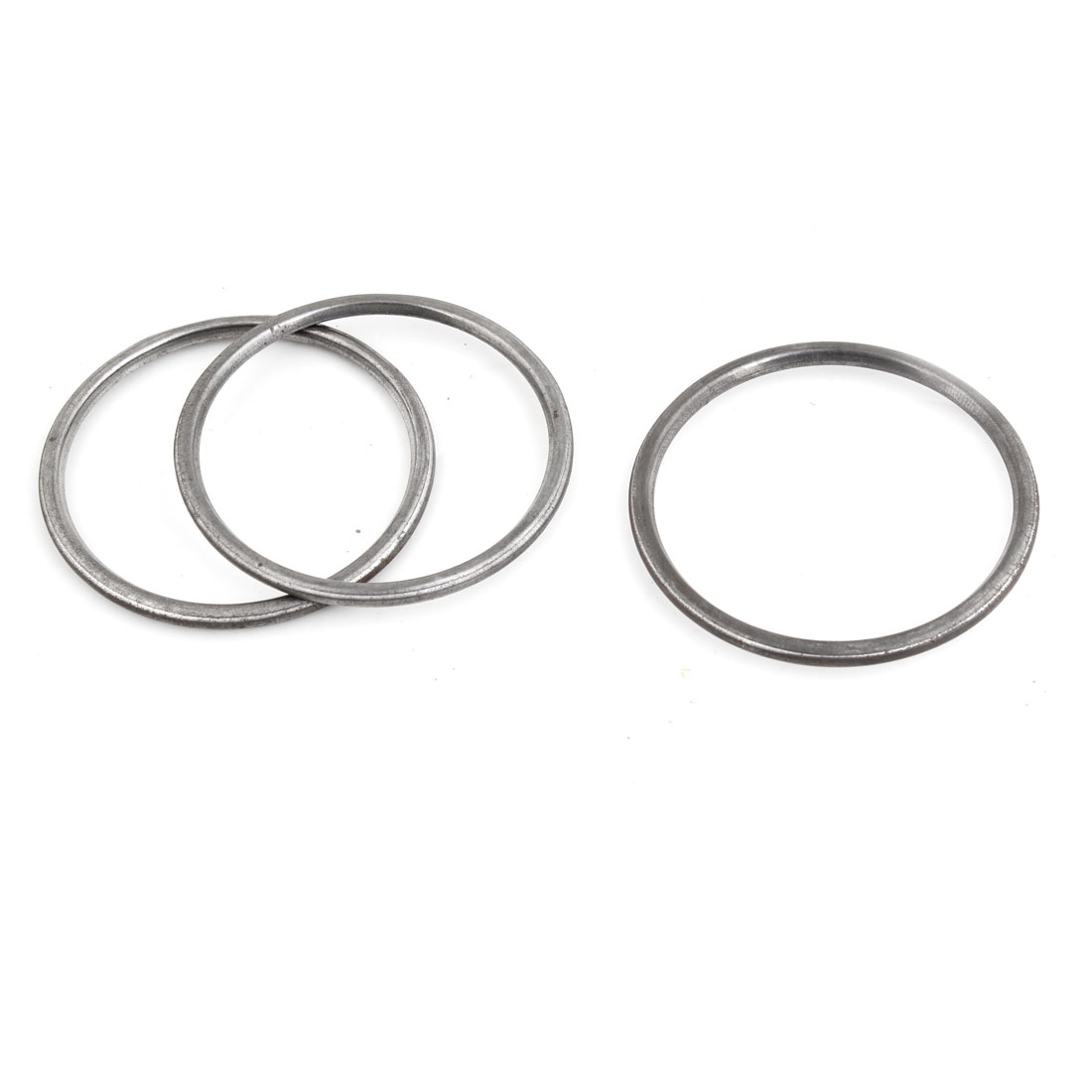 3 Pcs Vehicle Iron 53mm Inside Dia Engine Silencer Exhaust Gasket Assembly