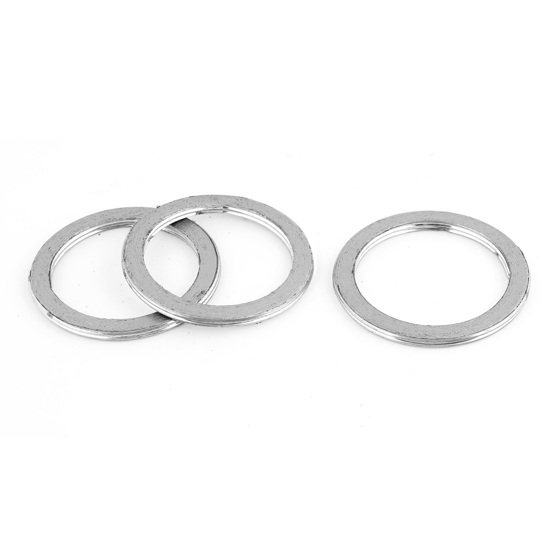 3 Pcs Auto Car Aluminum 50mm Inside Dia Engine Silencer Exhaust Gasket