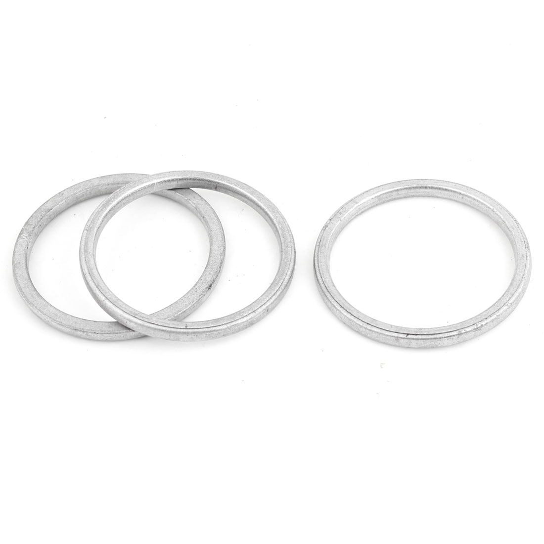 3 Pcs Vehicle Aluminum 50mm Inside Dia Engine Silencer Exhaust Gasket Assembly