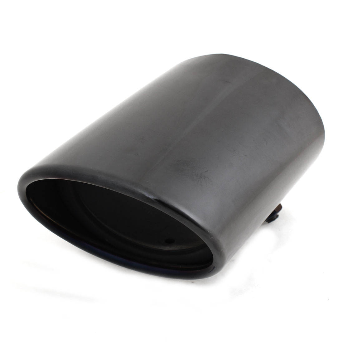 Black Stainless Steel 75 x 55mm Inlet Size Exhaust Muffler Tip for Toyota Prado