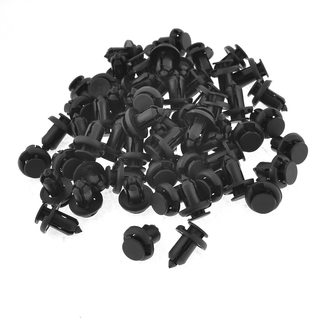 Auto Car Black Plastic Bumper Buckle Rivets Fastener Clips 100 Pcs 27 x 20mm