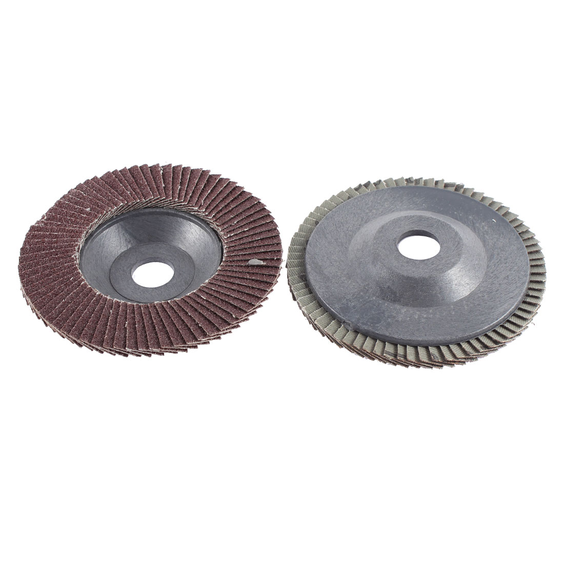 "Pair 4"" Dia Abrasive Flap Sanding Disc Grinding Wheel A80 13000 RPM"