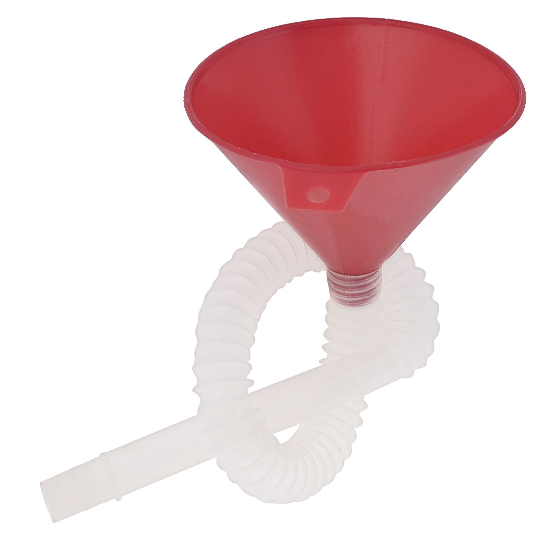 Universal Car Mouth Flexible Hose Gas Oil Fuel Funnel Red White