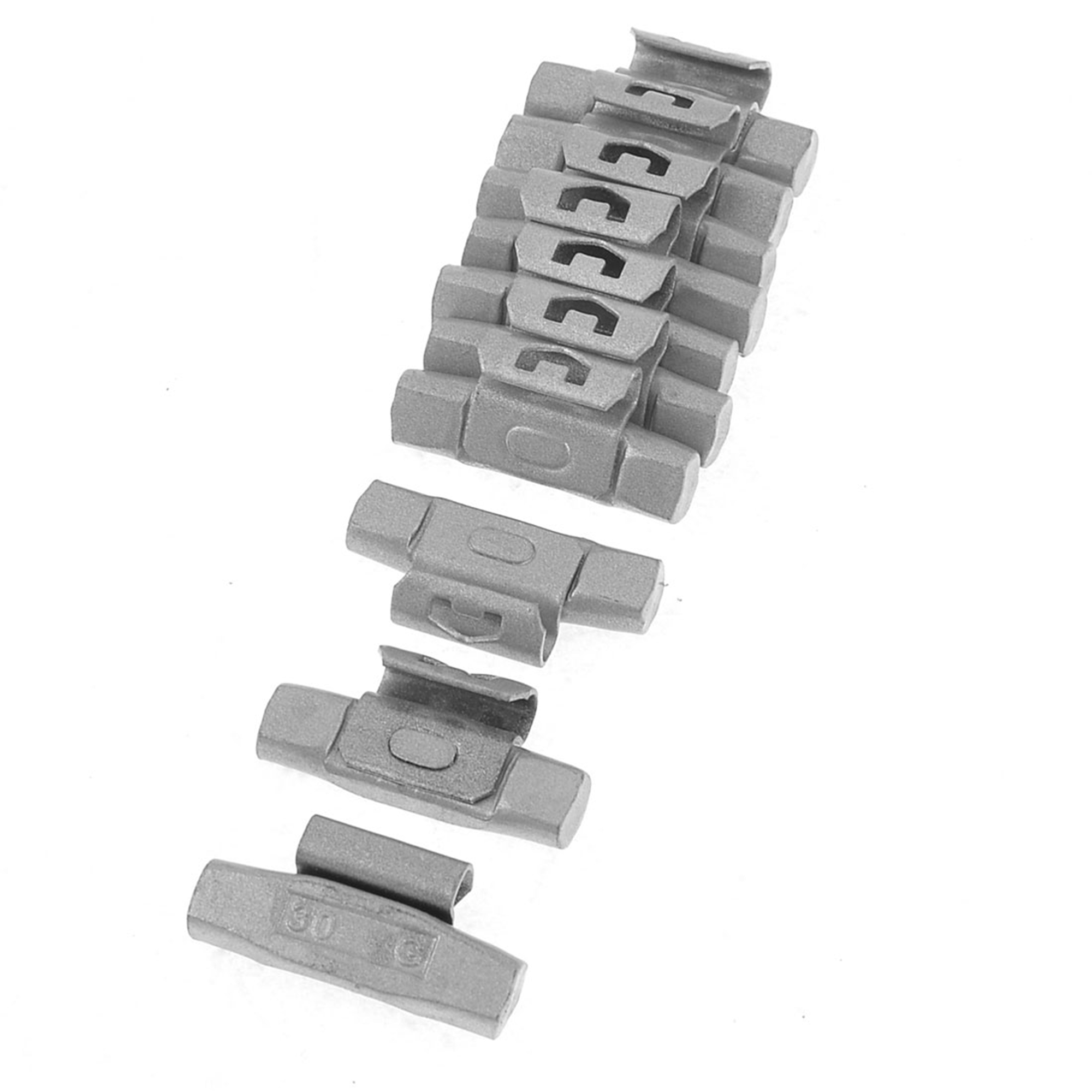 43 x 20 x 10mm Car Tyre Tire Wheel Balance Weights 30g 10pcs